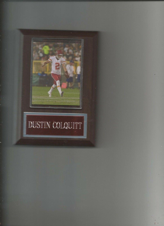 DUSTIN COLQUITT PLAQUE KANSAS CITY CHIEFS KC FOOTBALL NFL