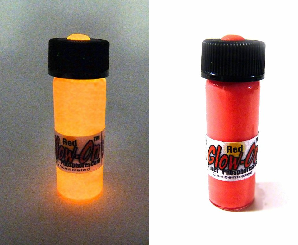 Glow-On® RED Super Glow Paint for Gun Night Sights and Fishing lures, 4.6ml vial