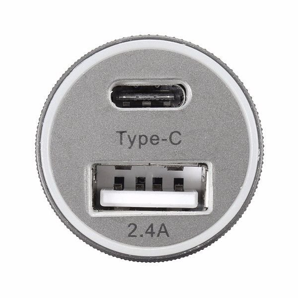 USB Car Charger 5V 2.4 USB and Type C USB A 2.0 Port Power Dual USB Power