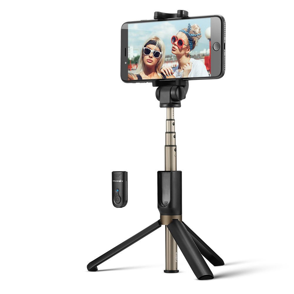BlitzWolf BW-BS3 Versatile 3 in 1 Bluetooth Tripod Selfie Sticks for iphone 8 8