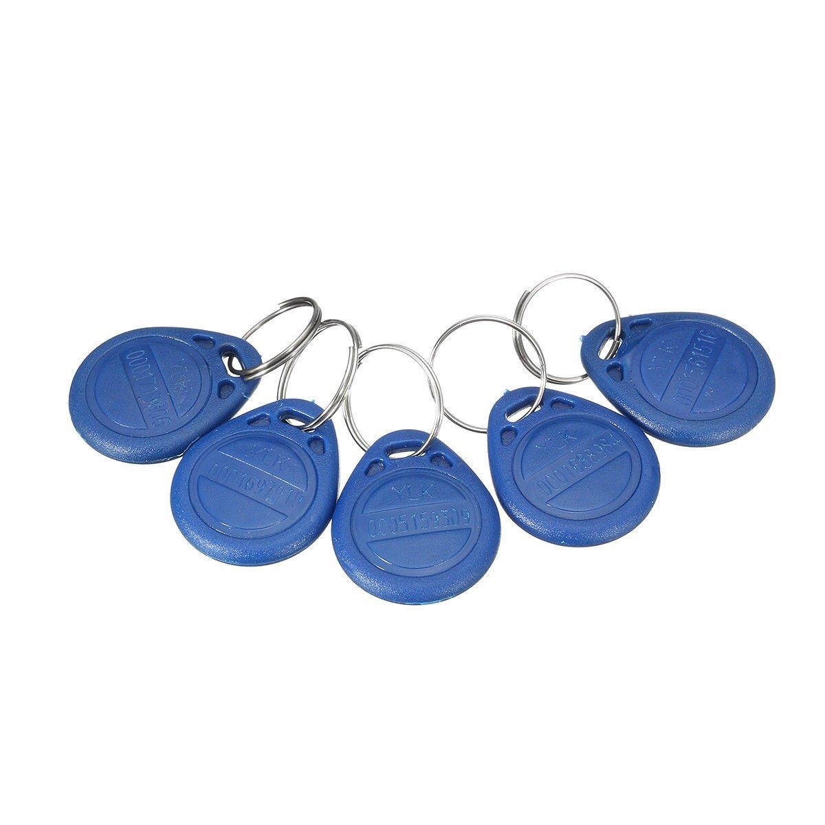 5Pcs ID Keyfbobs RFID Tag Key Ring Card 125KHZ Proximity Token Access Control