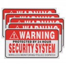 5Pcs Self-adhensive Camera CCTV Sticker Safty Signs Decal Protected by 24 Hour
