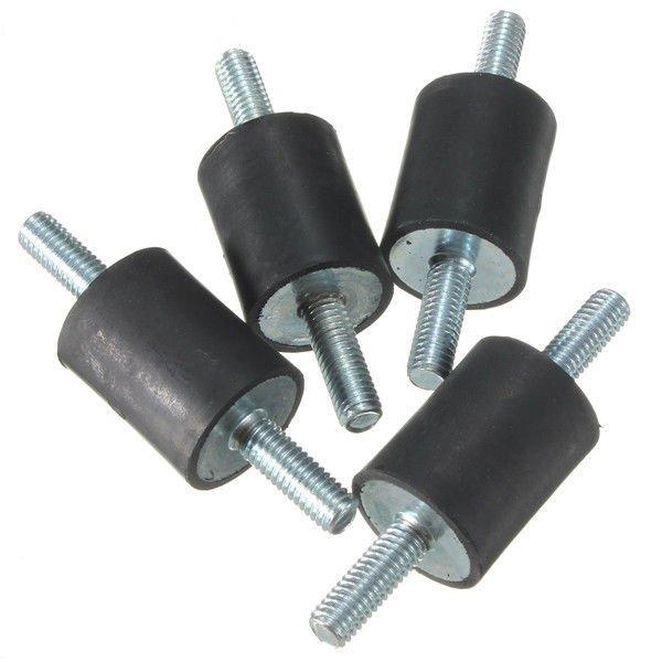 4pcs M6x20x25mm Rubber Shock Absorber Doubles Ends Rubber Mounts Vibration