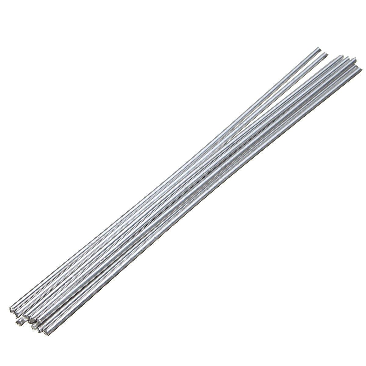 10Pcs Low Temperature Alumaloy Aluminum Repair Rods 3.2mmx230mm Welding Machine
