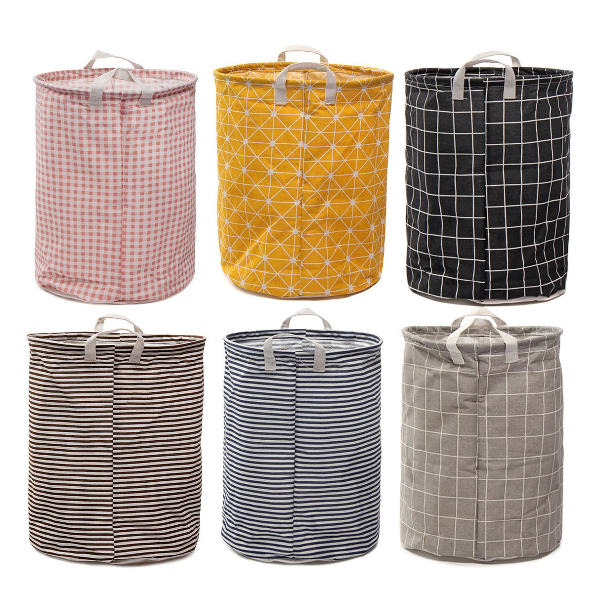 Foldable Large Storage Laundry Hamper Clothes Baskets Sorter Canvas Laundry