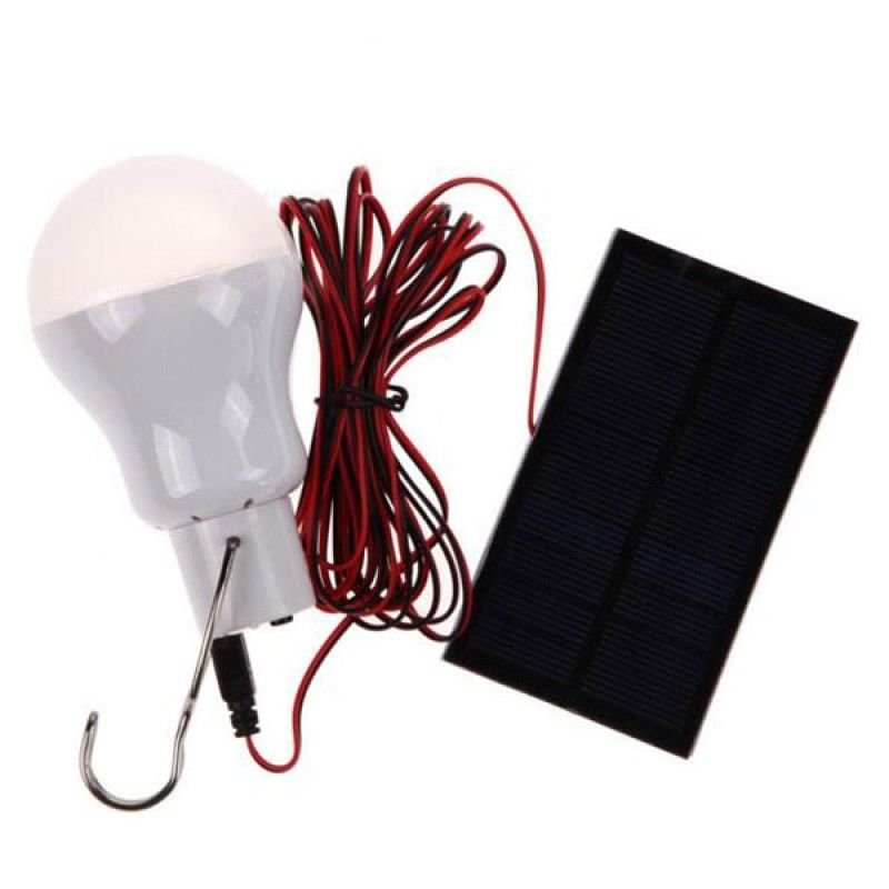 Portable 110LM LED Solar Power Bulb Outdoor Camping Light Lamp