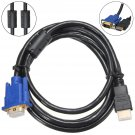 1.8M 1080P HD Male to VGA Female Video Converter Adapter Cable Lead PC DVD TV