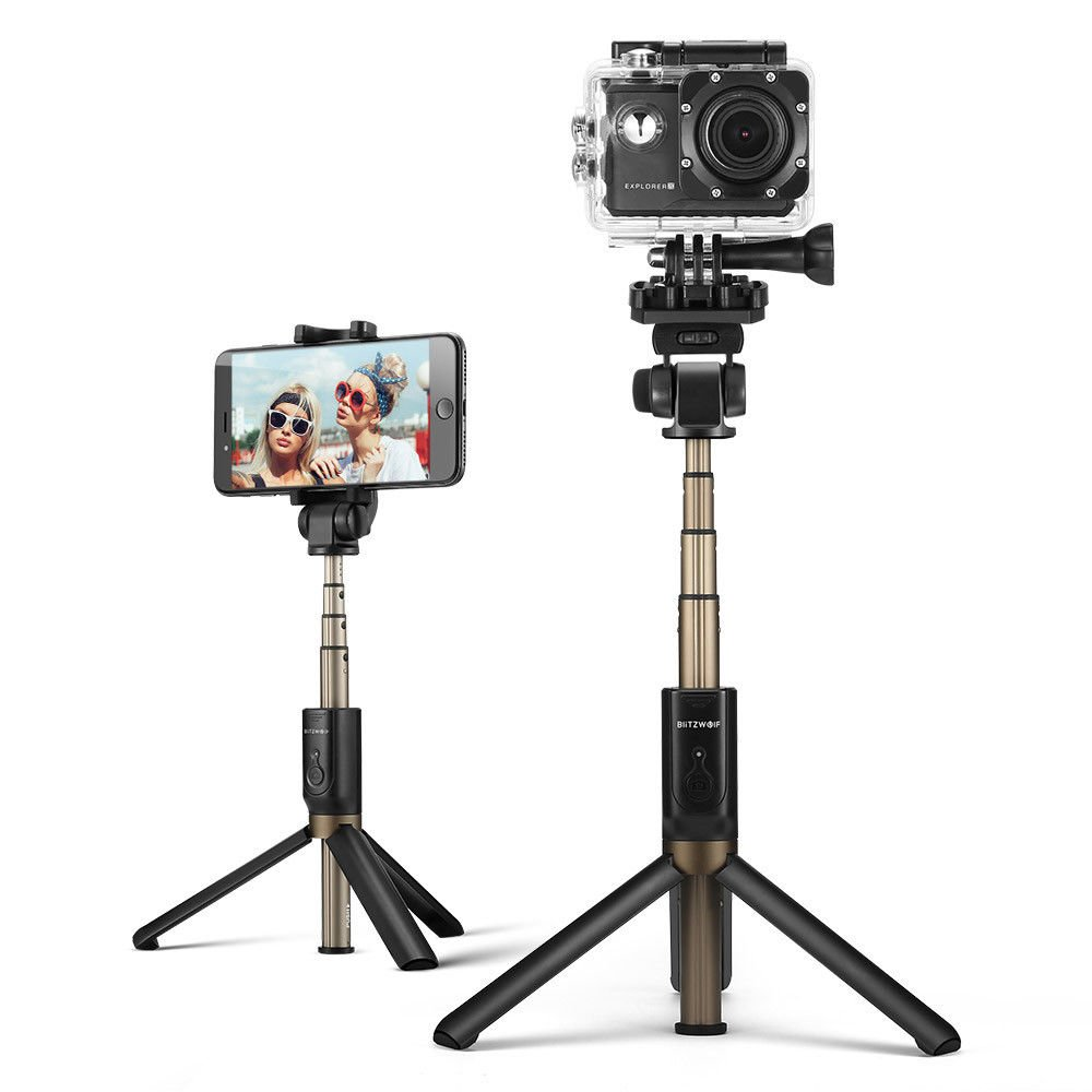 BlitzWolf BW-BS3 Sports Versatile 3 in 1 Bluetooth Tripod Selfie Sticks for
