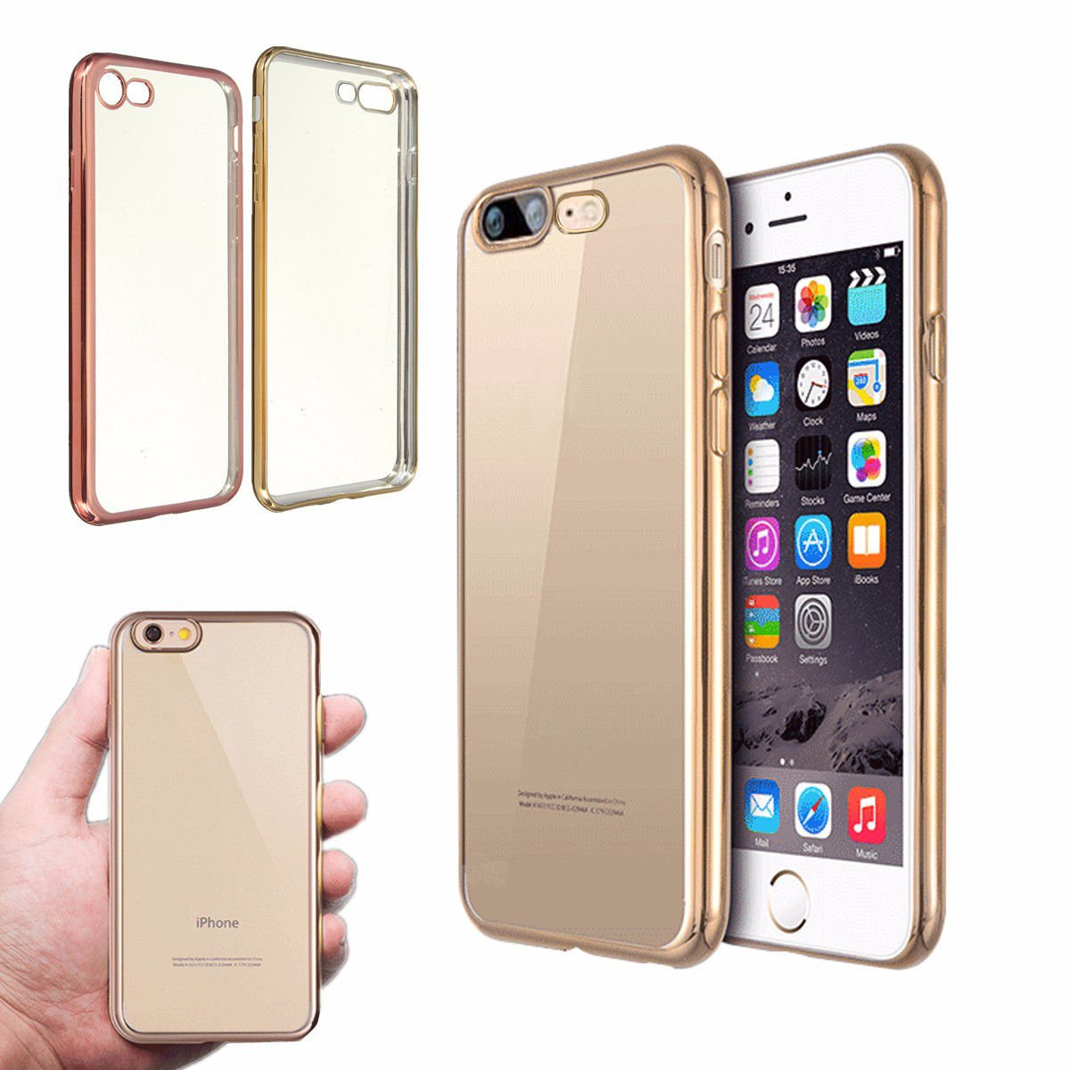 For iPhone 7/7 Plus Ultra Slim Clear Soft TPU Gel Shockproof Back Case Cover