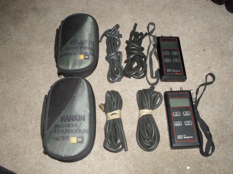 2 Dwyer Digital Manometers Series 477-1-FM & 477-2-FM