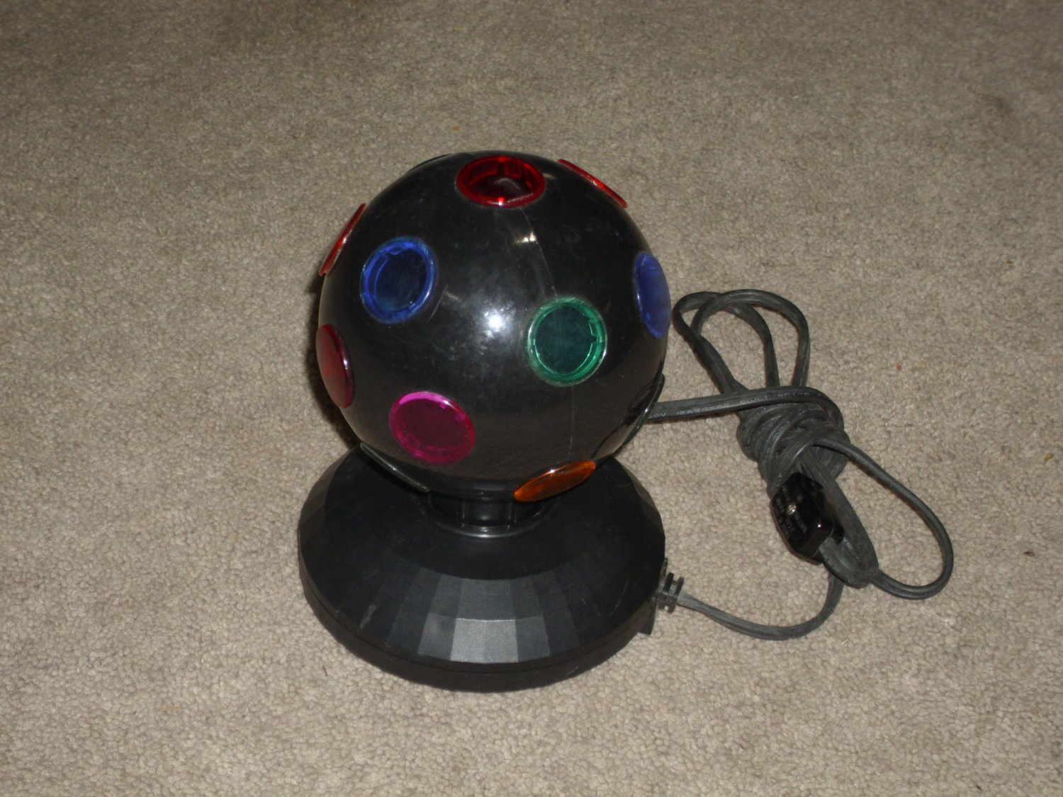 Multi-Colored Rotating Disco Ball/Lamp Party Strobe Light