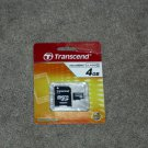 Transcend 4GB Micro SD SDHC Class 4 Flash Memory Card