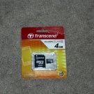 Transcend 4GB Micro SD SDHC Class 4 Flash Memory Card