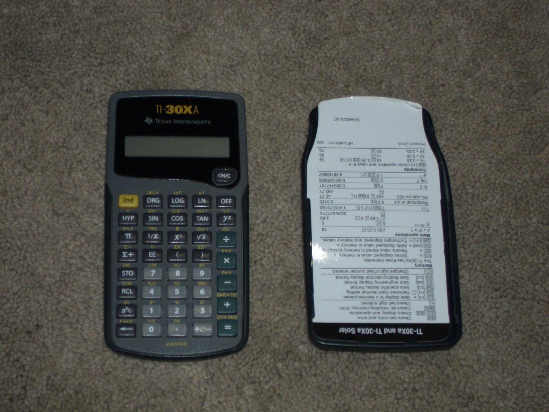 Texas Instruments TI-30XA Calculator. Needs Battery