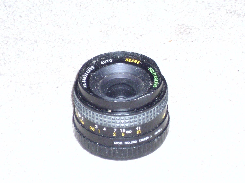 Sears 1:28 F=28mm Camera Lens 202 736890