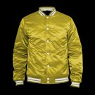 NEW CRAWFORD SATIN VARSITY JACKET IN Green COLOR ALL SIZE ARE AVAILABLE