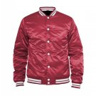 NEW CRAWFORD SATIN VARSITY JACKET IN MAROON  COLOR ALL SIZE ARE AVAILABLE