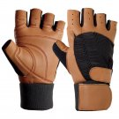 New Crawford weight lifting Gym training wrist wrap work out black gloves