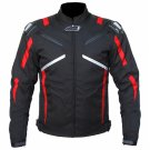 CRAWFORD MEN'S CE ARMORED CORDURA WATERPROOF MOTORBIKE RACING  JACKET