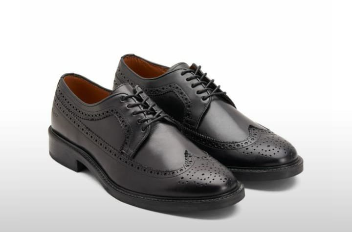 Scottish Ghillie Kilt Leather Brogues Real Leather Shoes