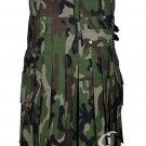 New Professional  Scottish  US Army Camo Men Utility Kilt Adult