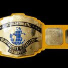 WWE WWF  Intercontinental Heavy Weight Championship Wrestling Belt With Yellow Leather Strap