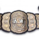 AEW World Championship Wrestling Belt Replica With Black Leather strap