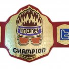 WWE WWF Zack Rider  Internet Championship Wrestling Belt Replica With Red Leather strap