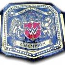 United Kingdom Champion Wrestling Belt With Leather Straps Adult Size