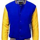 XL size Yellow And Blue Letterman/Baseball/Club/High School/Custom Made Varsity Jac