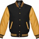 4XL size golden And Black Letterman/Baseball/Club/High School/Custom Made Varsity Jacket