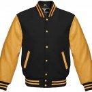 XXL size Golden And Black Letterman/Baseball/Club/High School/Custom Made Varsity Jacket