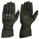 XL Black Motorbike Racing Motorbiker Riding MOTO Armor Leather Gloves With EVA Foam  Protection