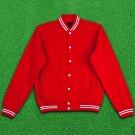4XL size RED Wool  Letterman/Baseball/Club/High School/Custom Made Varsity Jacket