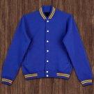 4XL size Blue Wool Letterman/Baseball/Club/High School/Custom Made Varsity Jacket