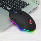 HXSJ S500 RGB Backlit Gaming Mouse 6 Buttons 4800DPI Optical USB Wired Mice Macros Define