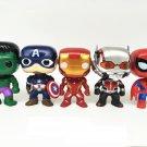 10pcs/set DC Justice League & Marvel Avengers Super Hero Characters Model Vinyl