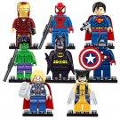 8pcs/lot legoINGlys Marvel Avengers Super Heroes Starwars Building Blocks