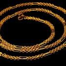 UNIQUE DESIGN 22 K YELLOW GOLD NEW FANCY  LINK CHAIN FIGARO FLEXIBLE CHAIN