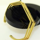 "SIZE 2.5 INCH UNISEX 18K SOLID YELLOW GOLD CUFF BANGLE BRACELET ""ADJUSTABLE"""