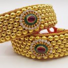 VINTAGE 20 K GOLD BEADS BRACELET BANGLE CUFF TRADITIONAL TRIBAL JEWELRY PUNCHI