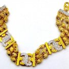 BASIL BRACELET 22 K YELLOW GOLD 3 THREE LAYER LINE BRACELET USE YOGA MEDITATION