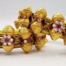 20K GOLD BEADS BRACELET BANGLE CUFF VINTAGE ANTIQUE TRIBAL OLD RAJASTHAN INDIA
