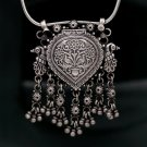 925 sterling silver tribal pendant vintage jewelry with hanging bells nsp167