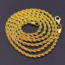 "22KT YELLOW GOLD HANDMADE FABULOUS ROPE CHAIN 22 "" NECKLACE 91.6% GIFTING CHAIN"