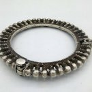 VINTAGE OLD SILVER BANGLE BRACELET KADA TRIBAL ETHNIC JEWELRY ANTIQUE sba12