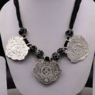 VINTAGE ANTIQUE SOLID 925 STERLING SILVER NECKLACE PENDANT TRIBAL JEWELRY set30