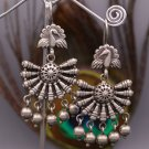 VINTAGE ANTIQUE 925 STERLING SILVER STYLISH STUD EARRINGS TRIBAL JEWELRY S377