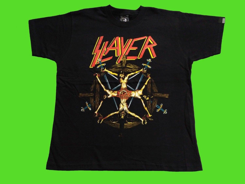 SLAYER - Circle of beliefs T-SHIRT Black (S) NEW heavy thrash death metal