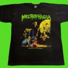 NECROPHAGIA - Seasons of the dead T-SHIRT Black (L) NEW heavy thrash death metal